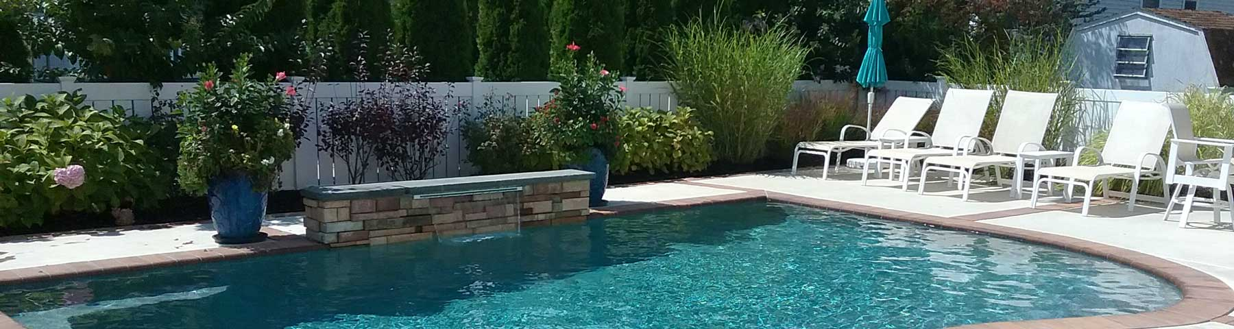 Pool with Fountain in Cape May, NJ